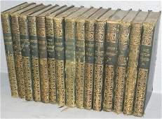 Set 15 leather-bound books.