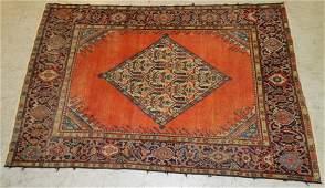 "6'1"" x 4'2"" antique handmade Persian rug"