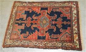 "6'1"" x 4'7"" handmade antique Persian rug"