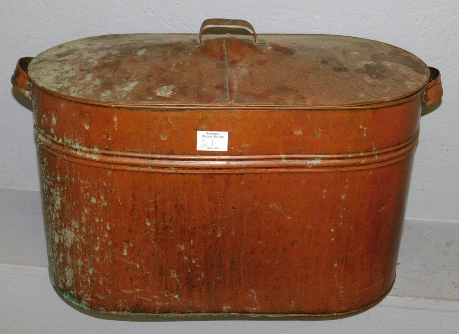 Copper ham pot or boiler.