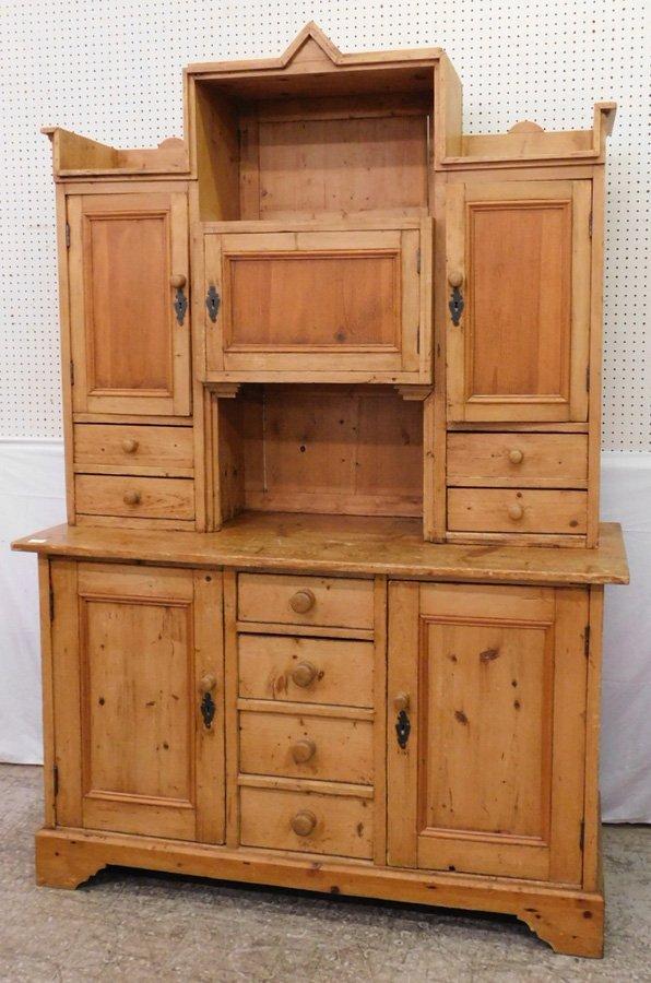 Primitive pine cupboard.