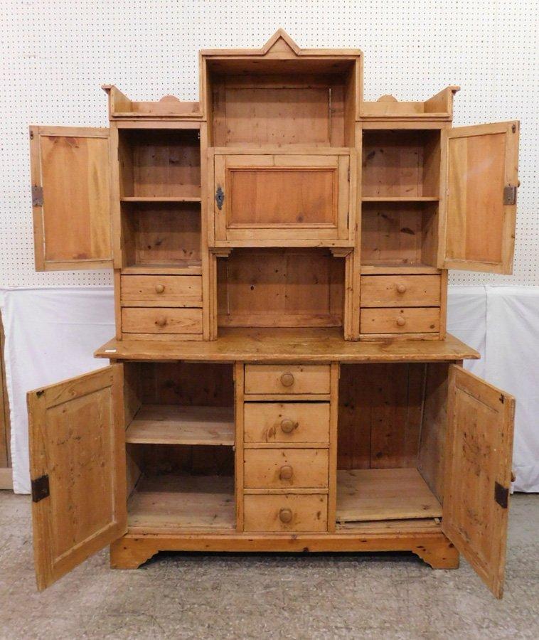 Primitive pine cupboard. - 2