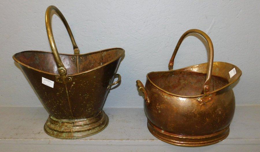 "2 coal buckets. To 16"" tall."