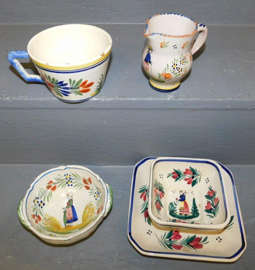 4 signed pieces of Quimper