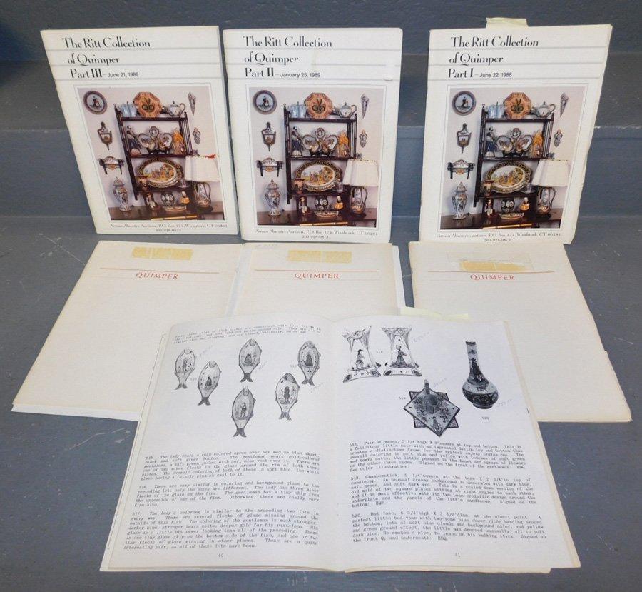 Collection of Quimper auction catalogs