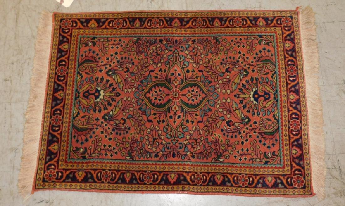 2' x 3' Sarouk rug.