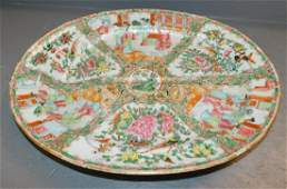 19th C Rose Medallion Well and Tree platter