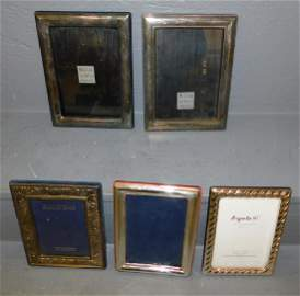 "5 sterling picture frames. To  6 1/2"" x 8 1/2"""