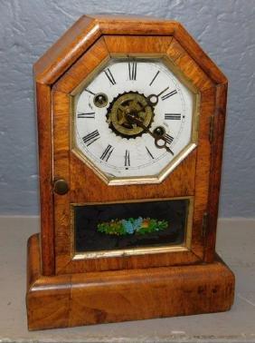 Small Early Mahogany Case Cottage Clock