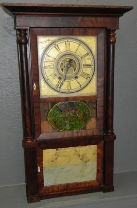 Chauncey Jerome 8 Day Ogee Clock Circa 1820.