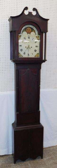 Moon dial mahogany grandfather clock