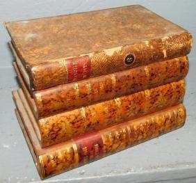 French Leather-bound book cellarette.
