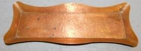 "Stickley brass pin tray 9 3/4"" long."