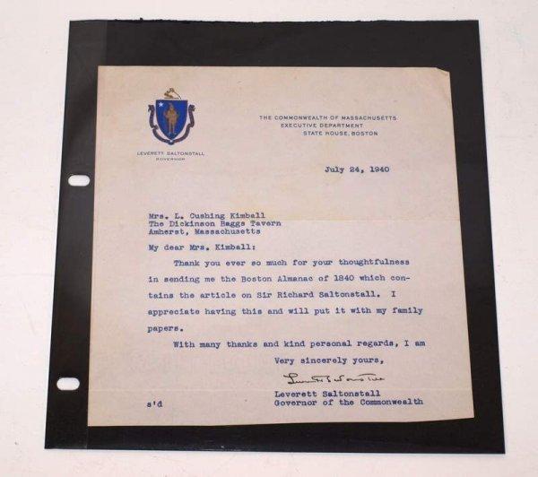 4: Leverett Saltonstall letter