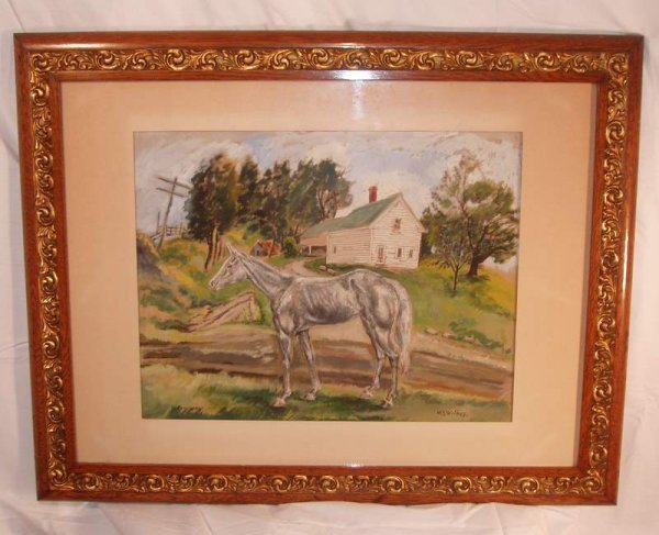 18: North Conway, NH horse painting
