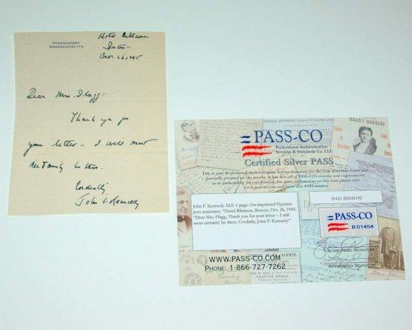 20: John F. Kennedy letter