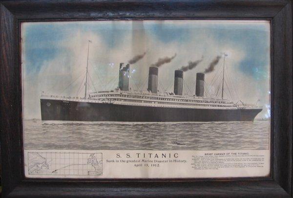 24: Tichnor Brothers S. S. Titanic Print