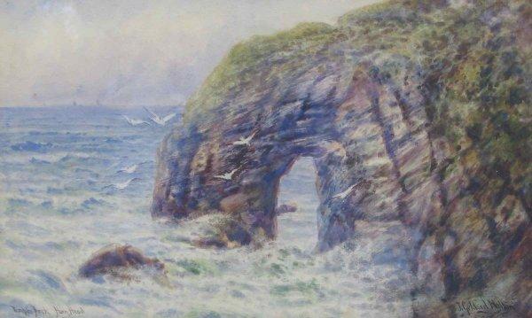 015: J. Geldard Walton Watercolor Temple Arch Ireland