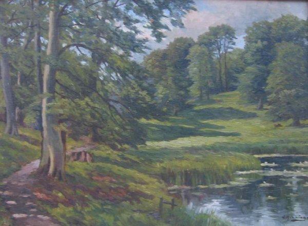 017: N. Hennings Oil Painting