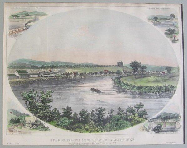 019: William Stewart Hunter Antique Print River