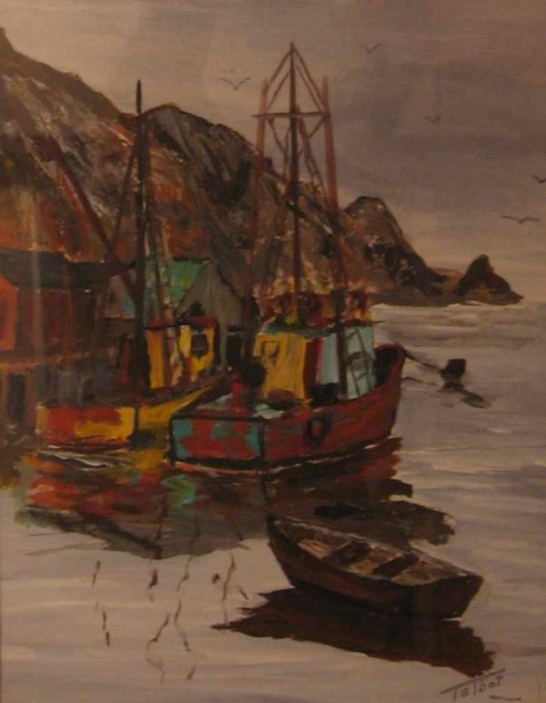 020: Nova Scotia Fishing Scene Painting