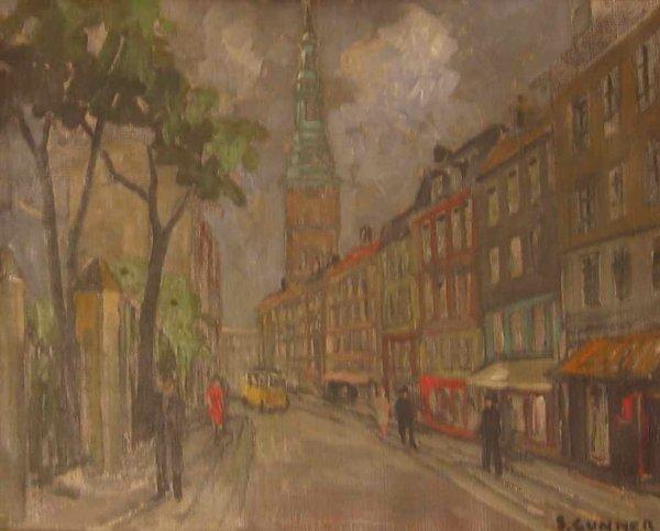022: Svend Gunner Street Scene Amsterdam