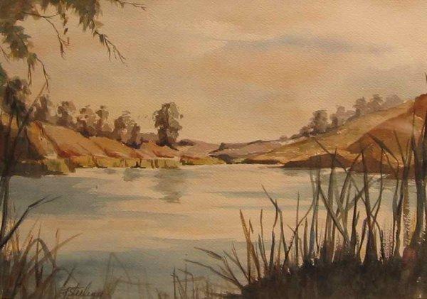 023: Canadian School 19th Century Watercolor Landscape
