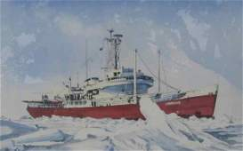096: Jay Langford Ship Portrait Watercolor Labrador