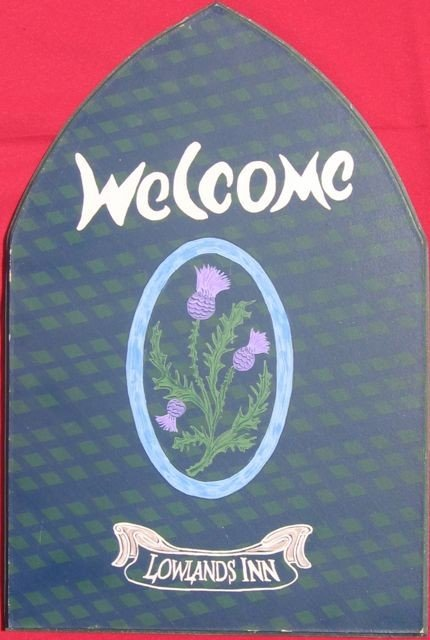 1: PEI Hand-Painted Advertising Sign - Lowlands Inn