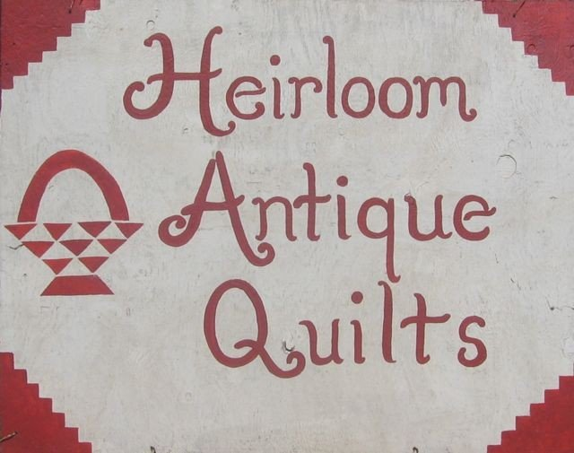 2: PEI Hand-Painted Sign - Heirloom Antique Quilts
