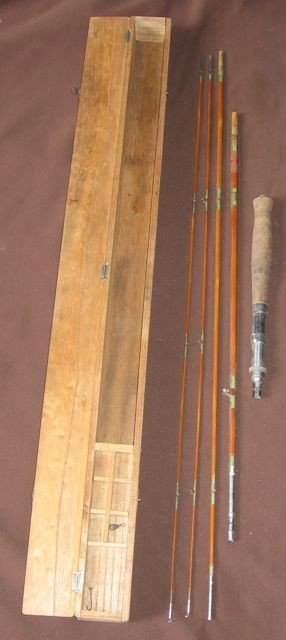 17: Vintage Split Bamboo Fly-fishing Rod & Box