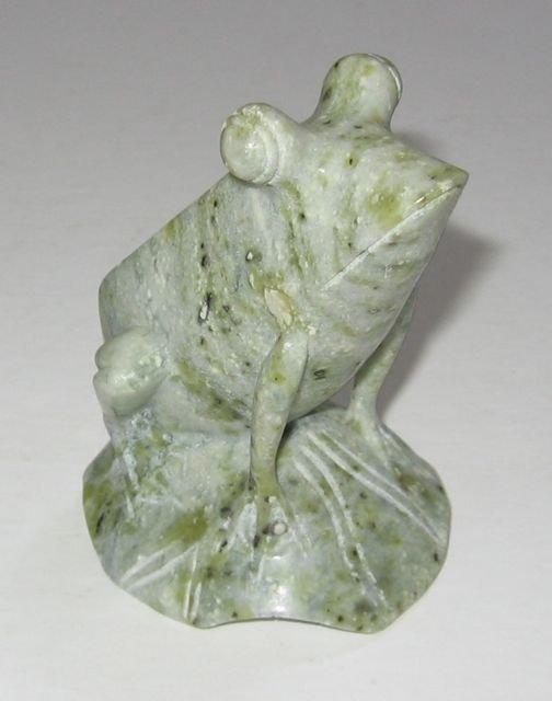"""8: Polished Carved """"Agate Frog"""""""