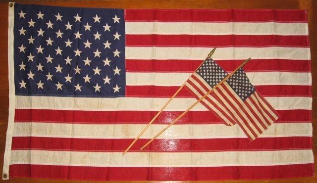 10: Vintage American Flag Lot, 50 Stars, c1959