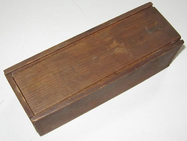 14: Antique Ebony & Ivory Domino Set + Wood Box