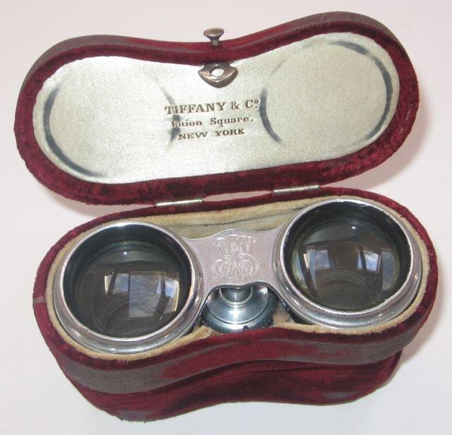 "24: ""Tiffany, NY"" Mother-of-Pearl Opera Glasses + Case"