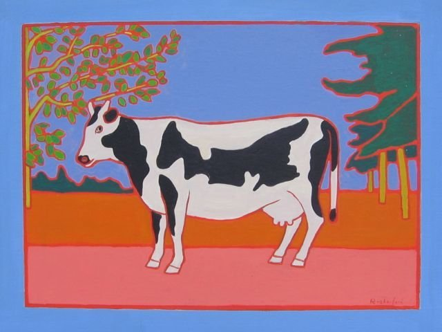 "170: ""PEI Cow One"" Erica Rutherford Acrylic 1989"