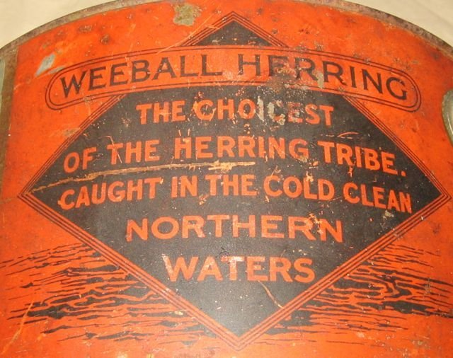 Rallings Weeball Herring Painted Tin Pail