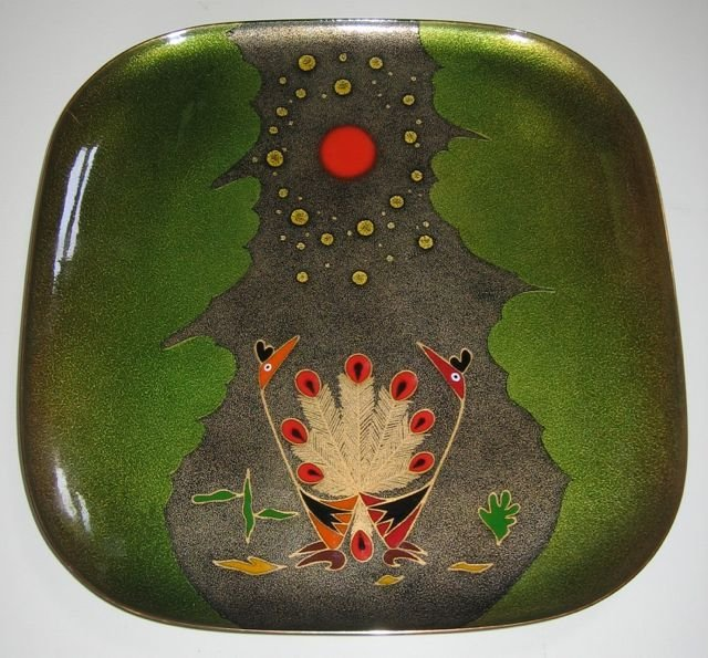 Pineda Mexican Enameled Copper Plate