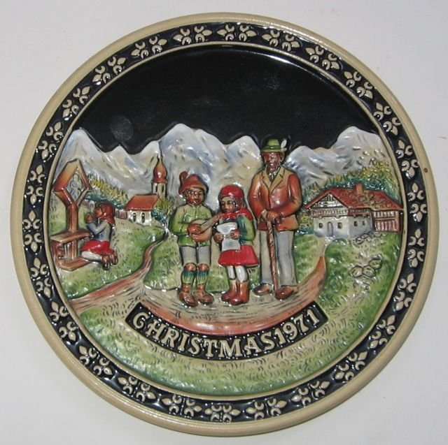 Schmid Bavarian Christmas Plate 1971