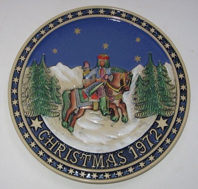 Schmid Bavarian Christmas Plate 1972