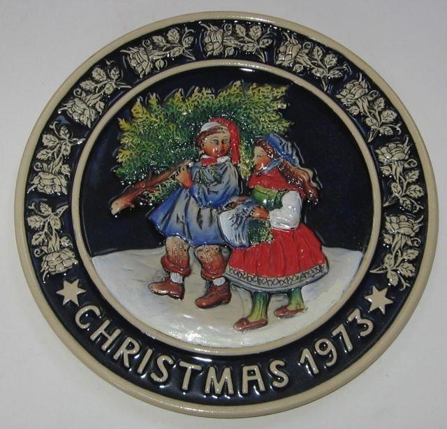 Schmid Bavarian Christmas Plate 1973