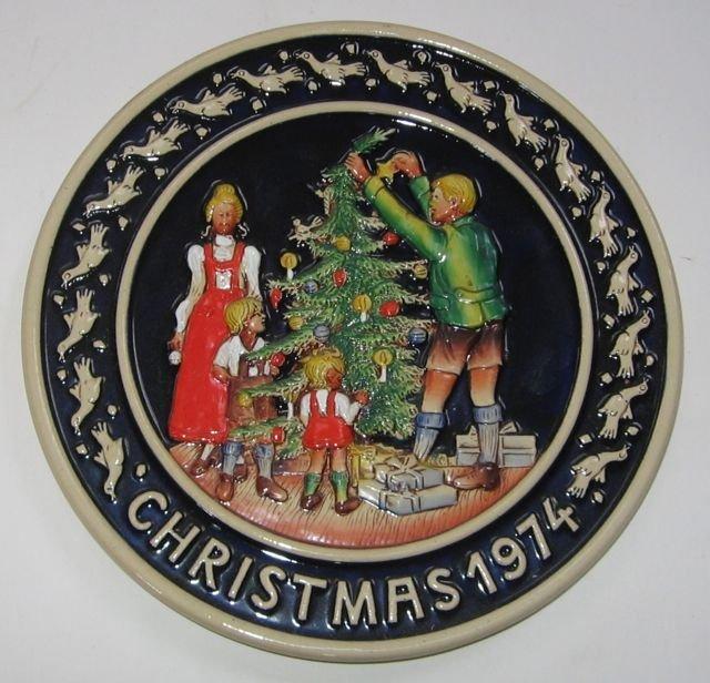 Schmid Bavarian Christmas Plate 1974