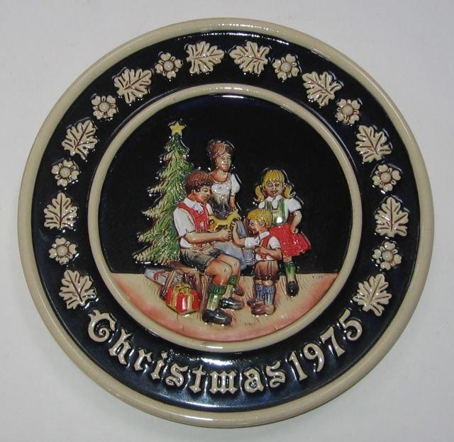 Schmid Bavarian Christmas Plate 1975