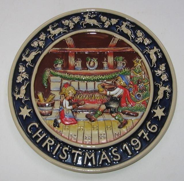 Schmid Bavarian Christmas Plate 1976