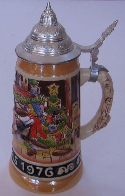 Schmid Bavarian Christmas Stein 1976