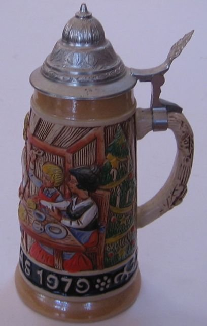 Schmid Bavarian Christmas Stein 1979