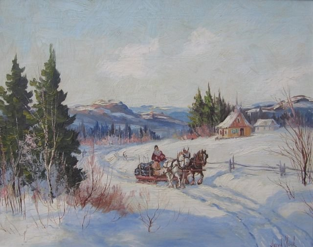 Joseph Monk Canadian Oil Painting