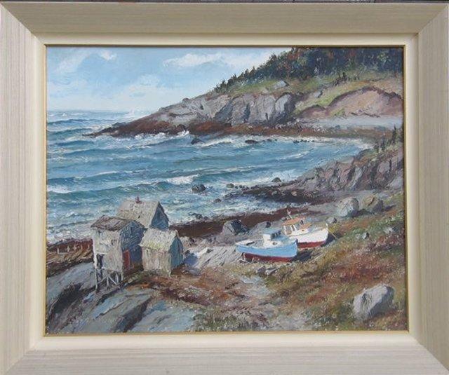 Kelsey Raymond Canadian Oil Painting Maritime Scene