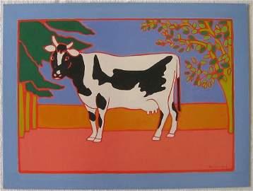 Erica Rutherford Prince Edward Island Cow Acrylic 1989