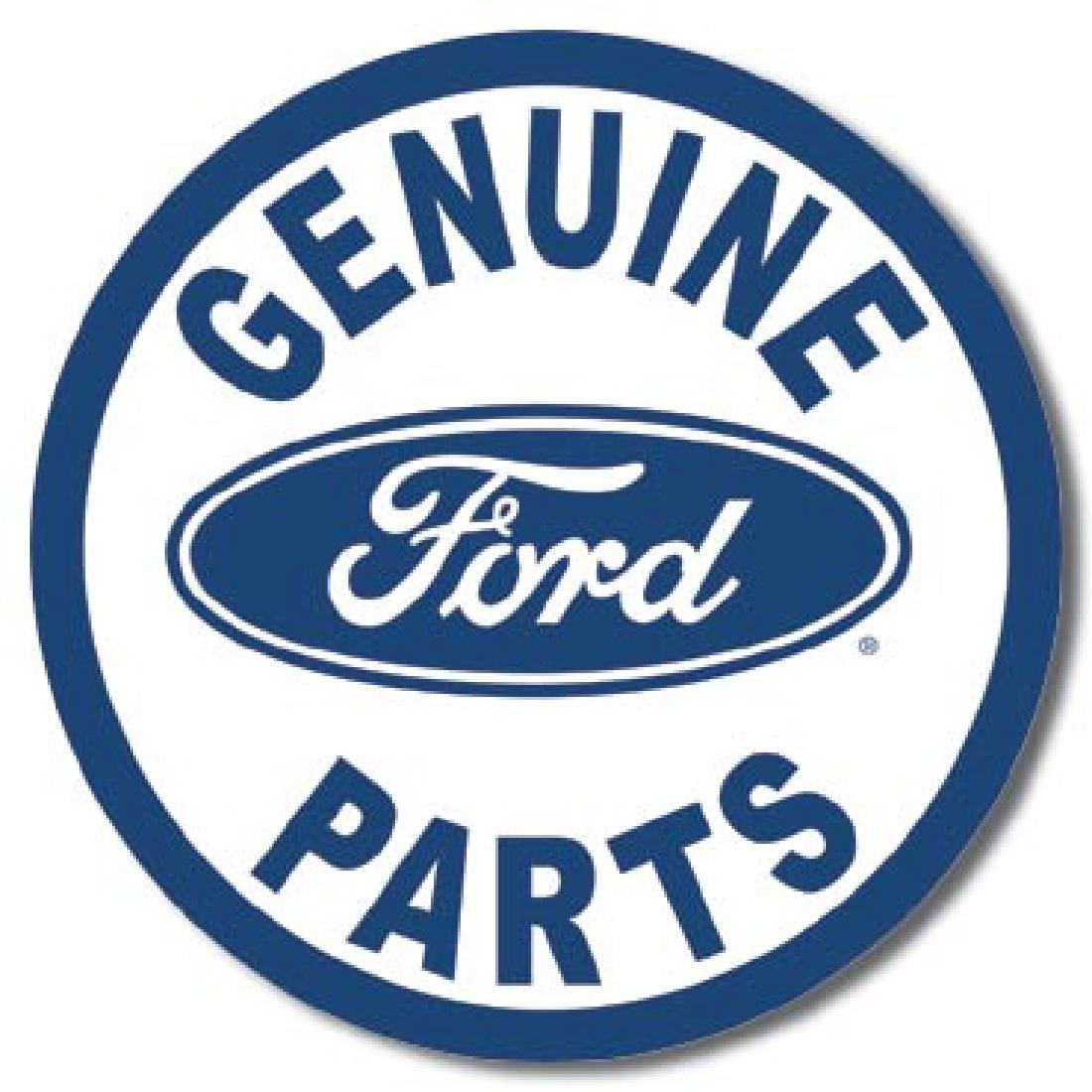 "GENUINE FORD PARTS METAL SIGN 12"" ROUND"